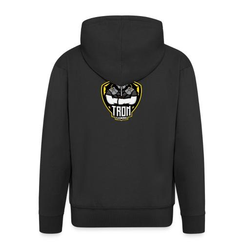 Tron-Gaming-Logo-Gelb-Transparent - Männer Premium Kapuzenjacke