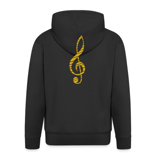 Goldenes Musik Schlüssel Symbol Chopped Up - Men's Premium Hooded Jacket