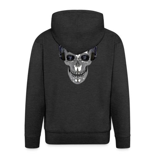 Skull chrome electrique - Veste à capuche Premium Homme