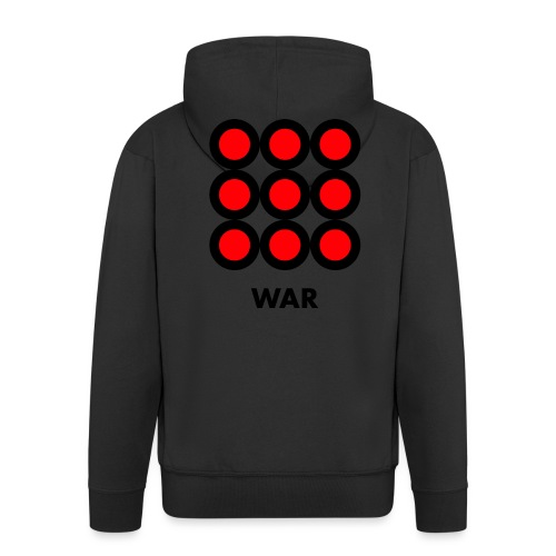 War - Felpa con zip Premium da uomo