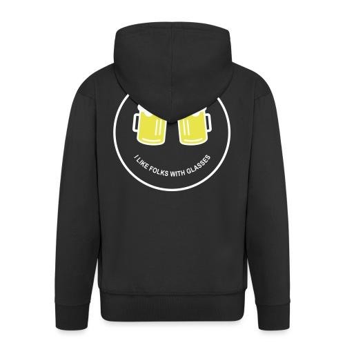 Bier Smiley – Oktoberfest – Bierzelt – Aprèski - Männer Premium Kapuzenjacke