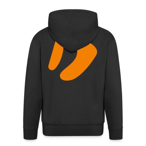 Logo D Orange DomesSport - Männer Premium Kapuzenjacke