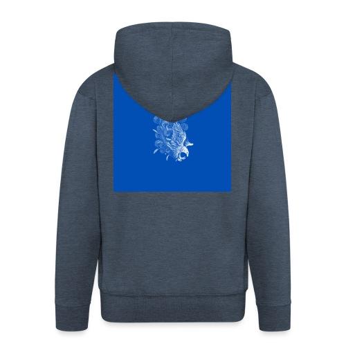 Windy Wings Blue - Men's Premium Hooded Jacket