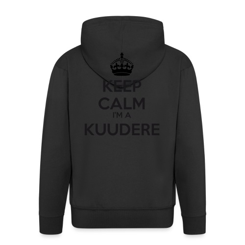 Kuudere keep calm - Men's Premium Hooded Jacket