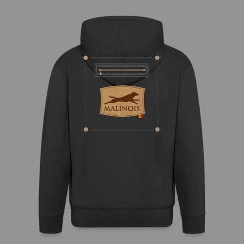 Belgian shepherd Malinois - Men's Premium Hooded Jacket