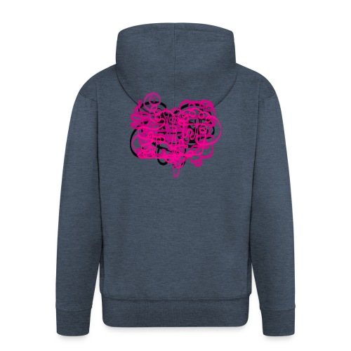 delicious pink - Men's Premium Hooded Jacket
