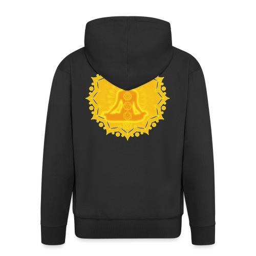 Yoga Lotus Meditation Chakren III - Männer Premium Kapuzenjacke