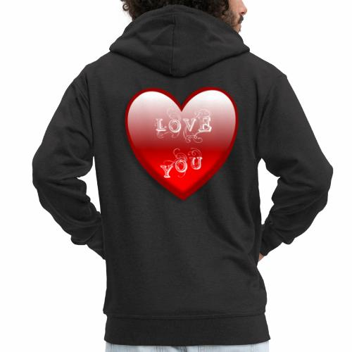 Love You - Männer Premium Kapuzenjacke