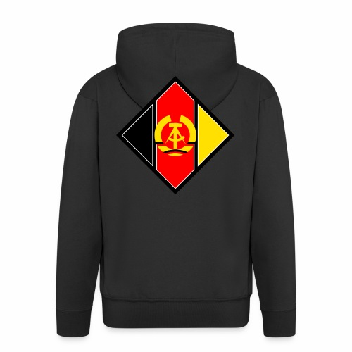 DDR coat of arms stylized - Men's Premium Hooded Jacket