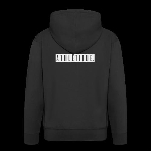 athlétique. (schwarz-auf-weiß) - Männer Premium Kapuzenjacke