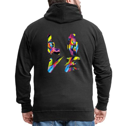 LOVE LION RICHE - Veste à capuche Premium Homme