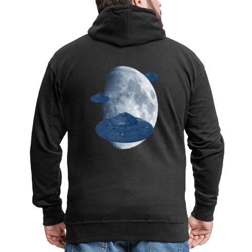 Sie kommen!! UFOs kommen vom Mond - Tee Design - Männer Premium Kapuzenjacke