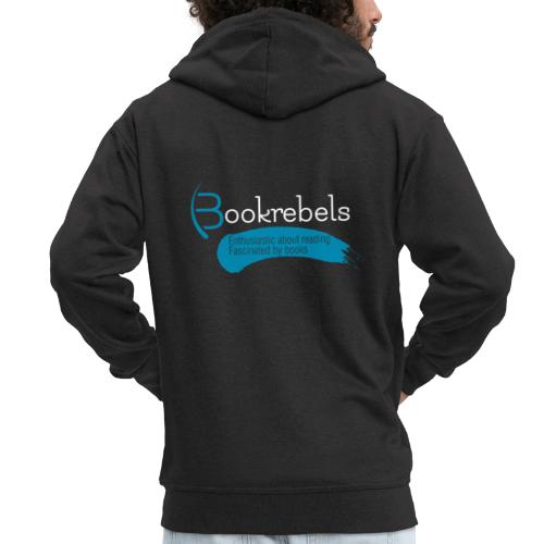 Bookrebels Enthusiastic - White - Men's Premium Hooded Jacket