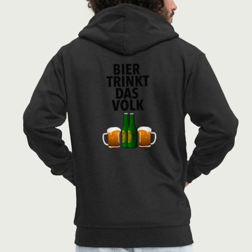 Bier Trinkt Das Volk - Männer Premium Kapuzenjacke