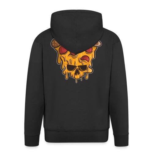 Zombie Halloween Pizza Skull - Männer Premium Kapuzenjacke