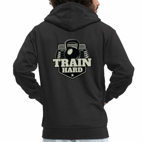 Train Hard - Männer Premium Kapuzenjacke