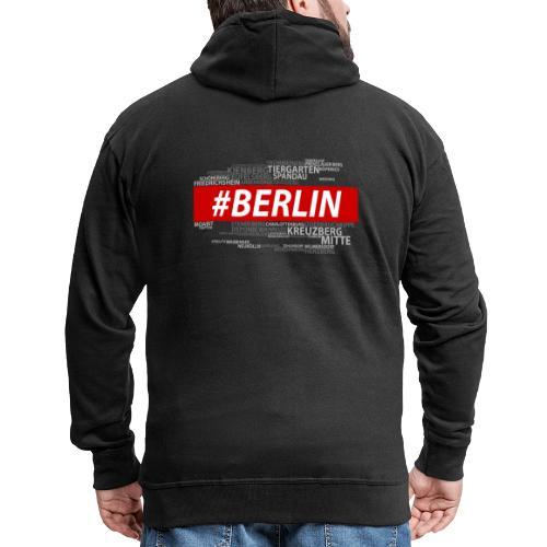 Hashtag Berlin - Männer Premium Kapuzenjacke