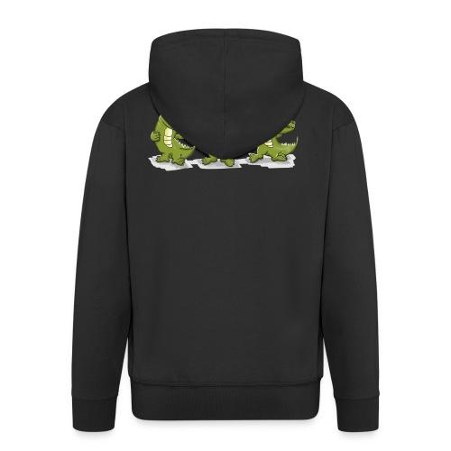 Nice krokodile - Männer Premium Kapuzenjacke