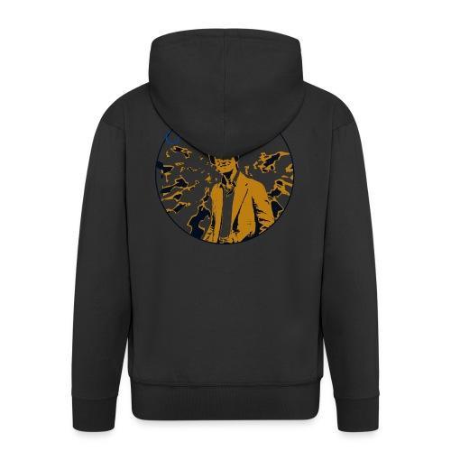 Vintage Carl Sagan - Men's Premium Hooded Jacket