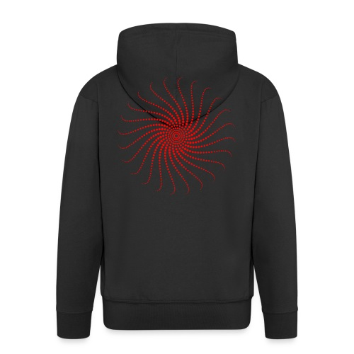 Energie Spirale Kreis Chakra Punkt Sonne Musik Goa - Männer Premium Kapuzenjacke