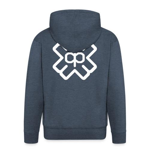 d3eplogowhite - Men's Premium Hooded Jacket