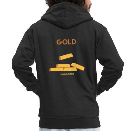 Gold - Men's Premium Hooded Jacket