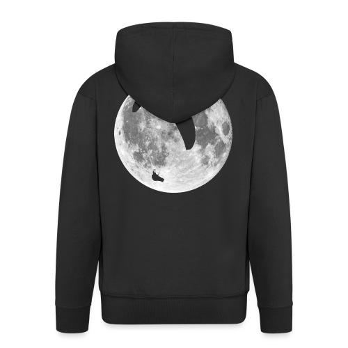 Paragleiter im Mond - Männer Premium Kapuzenjacke