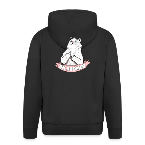 OK Boomer Cat Meme - Men's Premium Hooded Jacket