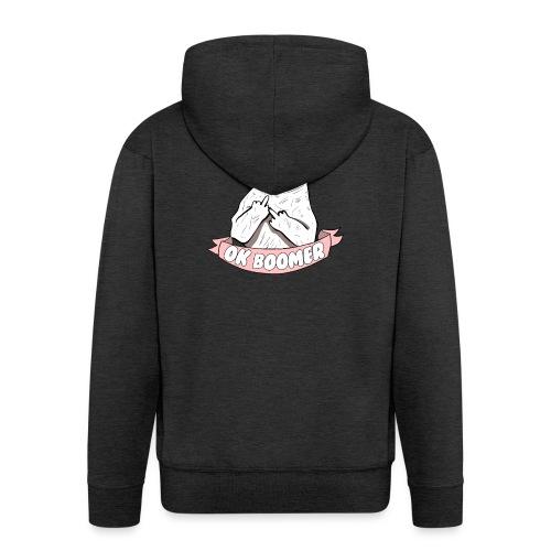 OK Boomer Cat Meme - Men's Premium Hooded Jacket