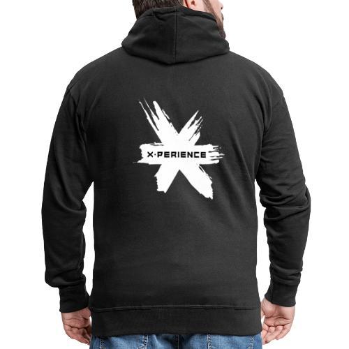 x-perience Logo weiß - Männer Premium Kapuzenjacke
