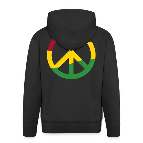 Peacezeichen Rastafari Reggae Musik Frieden Pace - Men's Premium Hooded Jacket
