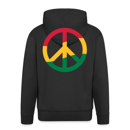 Peacezeichen Rastafari Reggae Musik Frieden Pace - Men's Premium Hooded Jacket