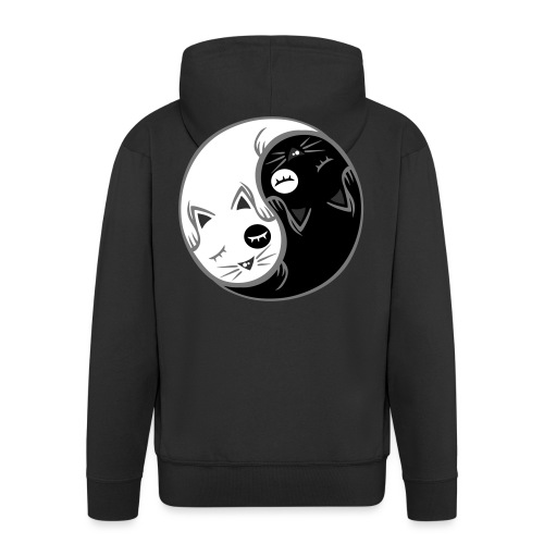Yin Yang katze flex - Männer Premium Kapuzenjacke