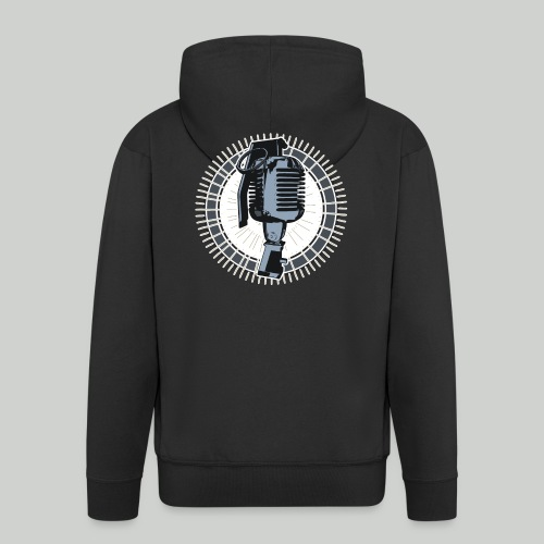 Battle Rap Microphone Granade - Men's Premium Hooded Jacket