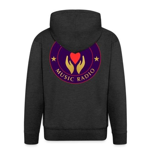 Spread Peace Through Music - Men's Premium Hooded Jacket