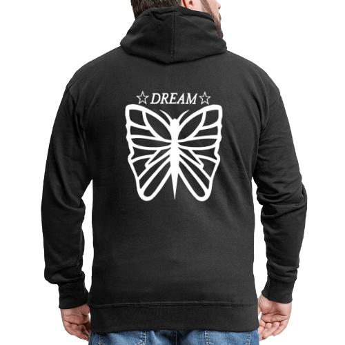 Dream butterfly motiv, black and white. - Premium-Luvjacka herr