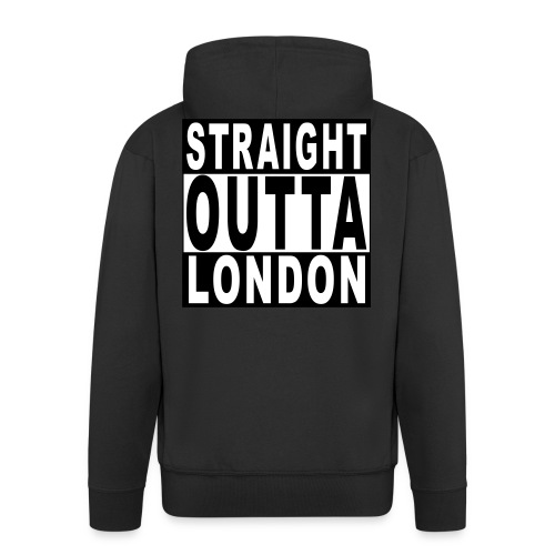 STRAIGHT OUTTA LONDON - Men's Premium Hooded Jacket