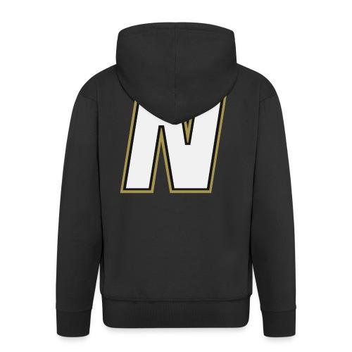 Nordic Steel WHITE N - Men's Premium Hooded Jacket