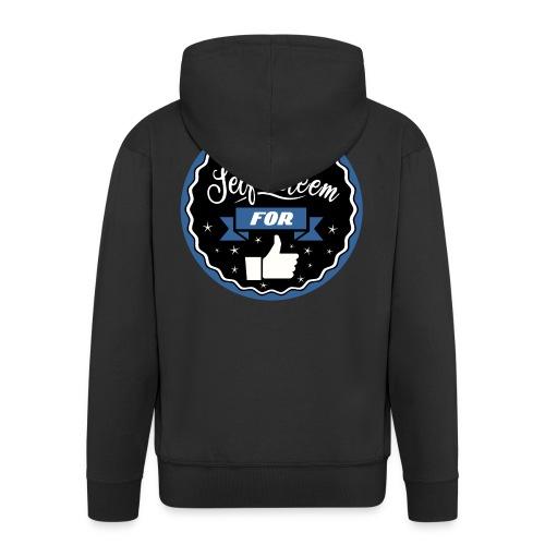 Trade self-esteem for likes - Men's Premium Hooded Jacket
