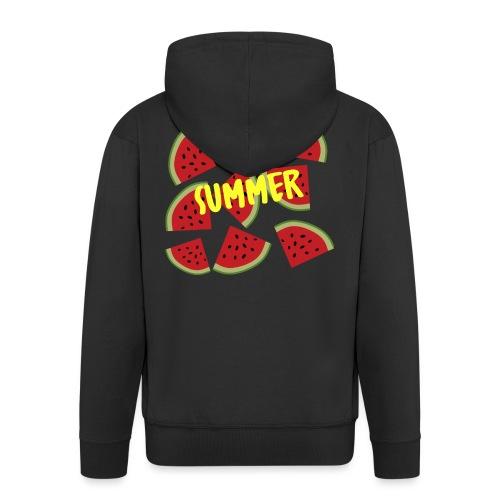 Sommer Sonne Wassermelone - Männer Premium Kapuzenjacke