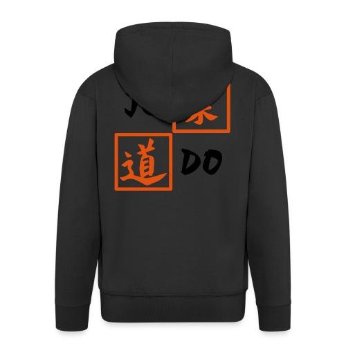 judo 2farbig - Männer Premium Kapuzenjacke