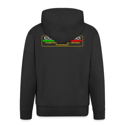 WRC CLUB ITALIA LOGO POSTERIORE - Felpa con zip Premium da uomo