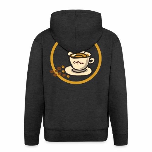 Kaffeeemblem - Männer Premium Kapuzenjacke