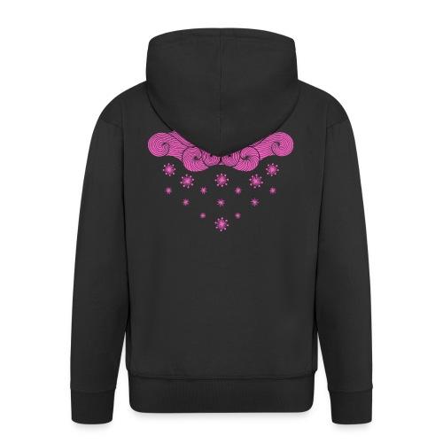 nuage rose et flocons vacances d'hiver - Veste à capuche Premium Homme