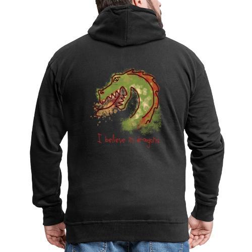 I believe in dragons - Men's Premium Hooded Jacket