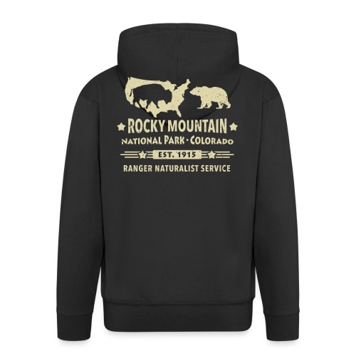 Rocky Mountain Nationalpark Berg Bison Grizzly Bär - Men's Premium Hooded Jacket