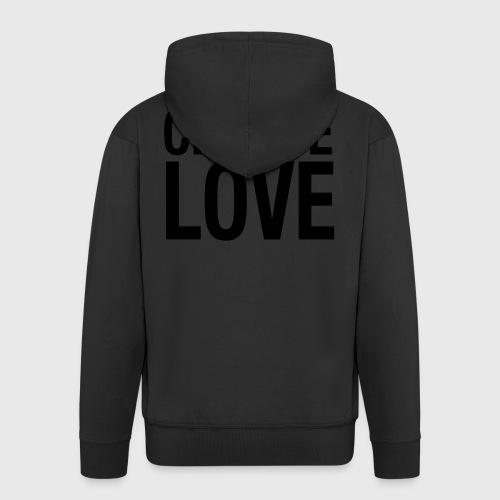 CHOOSE LOVE - Männer Premium Kapuzenjacke