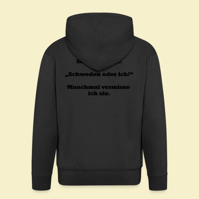 T-Shirt Schweden Herz schwarz für ihn