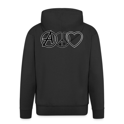 ANARCHY PEACE & LOVE - Men's Premium Hooded Jacket
