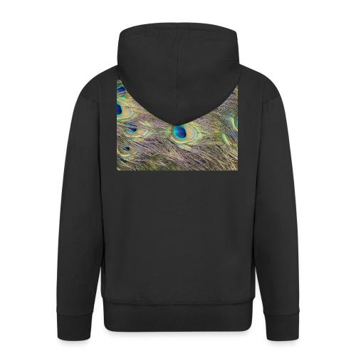 Peacock feathers - Miesten premium vetoketjullinen huppari